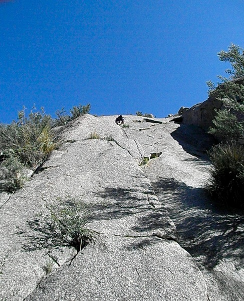 Rock Climbing Photo: Flake n' Bake left smaller crack