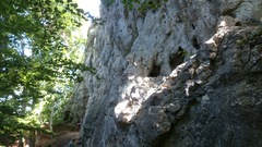 Rock Climbing Photo: The view of the crag as you round the bend.