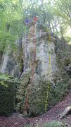 Rock Climbing Photo: XXX in blue, Zipperlein in red, and Kurz und schme...