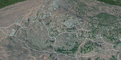 Rock Climbing Photo: A Google Earth view of Rumney with western trails ...