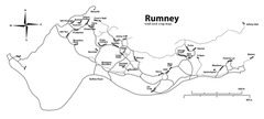 Rock Climbing Photo: Overview of Rumney with trails mapped using GPS. U...