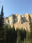 Rock Climbing Photo: East Buttress is the formation on the left, West B...