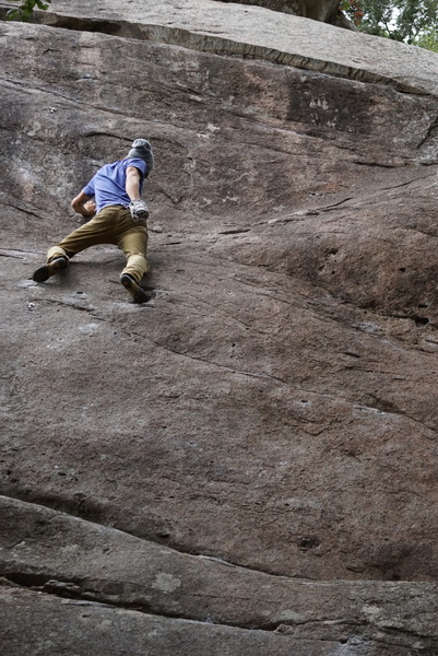 Rock Climbing Photo: Alex solo on lama