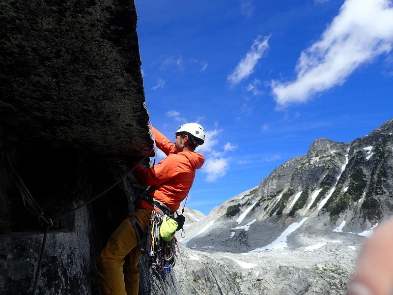 Rock Climbing Photo: P6 pulling roof