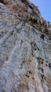 Rock Climbing Photo: technical tufa climbing