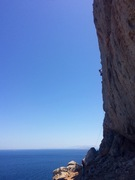 Rock Climbing Photo: the route with Turkey in the background