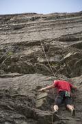 Rock Climbing Photo: Ross, above the overhang
