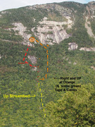 """Rock Climbing Photo: Approach(s) to the Bore Tide slab and """"Far Le..."""