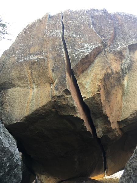 Rock Climbing Photo: Splitter from start to finish