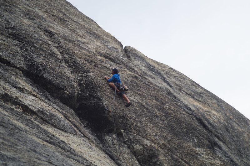 Rock Climbing Photo: clearing the crux