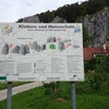 The sign at the head of the trail depicts the layout of the crags relative to each other and shows the trail system