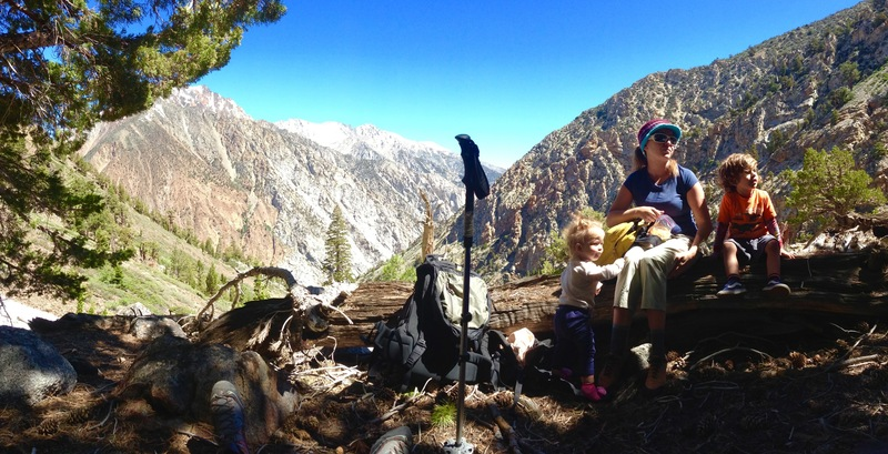 The wife and kids - Hunter romper our way up The Seven Gables!!