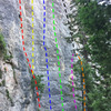 Happy Time Harry 5.11a (red - mostly obscured)<br> Jiggle Billy 5.12b (yellow)<br> Jolly Sunshine Happiness 5.12d (blue)<br> Sonic Happiness 5.12b (white)<br> Sonic Rainboom 5.12a/b (green)<br> Little Brittle 5.11a (purple)<br> Dusty Gozangas 5.11a (orange)<br> the Danger Cart 5.12a (black)