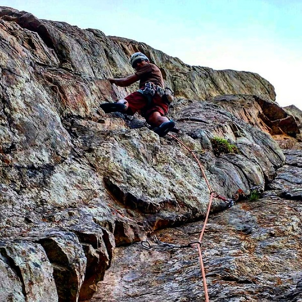 Rock Climbing Photo: Heading up the first pitch!