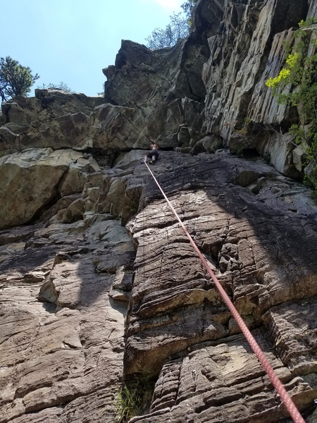 Rock Climbing Photo: A nice rest spot at the top of this climb before t...