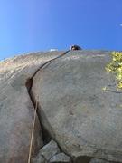 Rock Climbing Photo: Blake leading Out of Sight