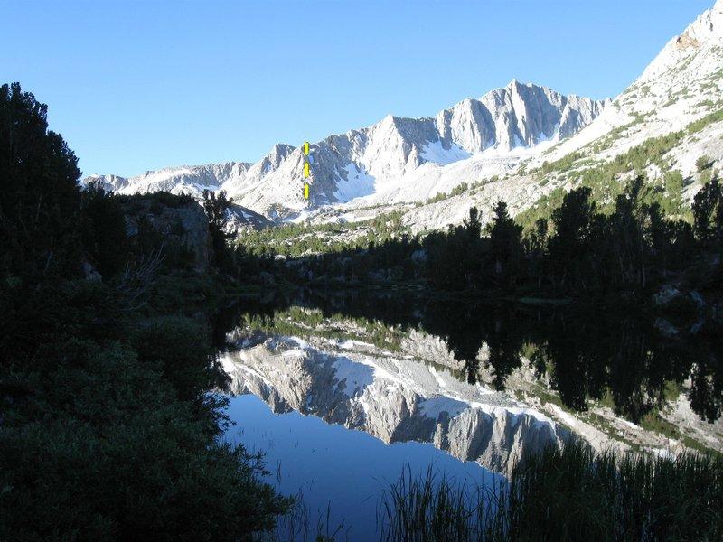 Rock Climbing Photo: No Goode follows the yellow line in the photo.