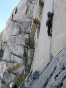 Rock Climbing Photo: Starting up P4.
