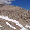 Mt Starr summit ridge + route SSW Ridge (seem from WSW)