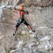 Rock Climbing Photo: Michael Mosure sending!