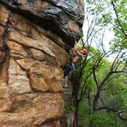 Rock Climbing Photo: Climber Michael Mosure, Kristi Cooke on belay.