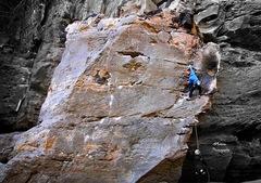 Rock Climbing Photo: Climber, Michael Mosure
