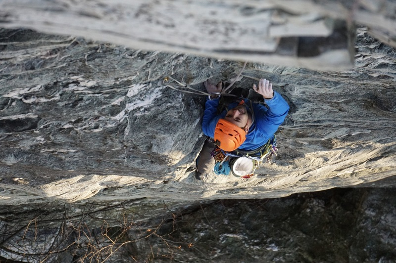 Climber Michael Mosure, Paul Park with photo