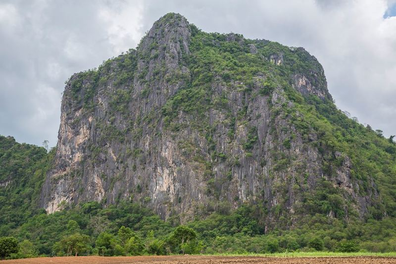 Lime Stone mountain in Dong Lan Forest, new developing sport area in Khon Kaen
