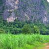 The dirt road to Shangri-La wall (white)
