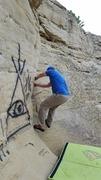 Rock Climbing Photo: Steve climbing Open Book (V0)