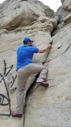 Rock Climbing Photo: Steve on Open Book (V0)