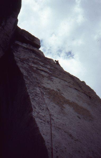 Rock Climbing Photo: Caunt on the FA