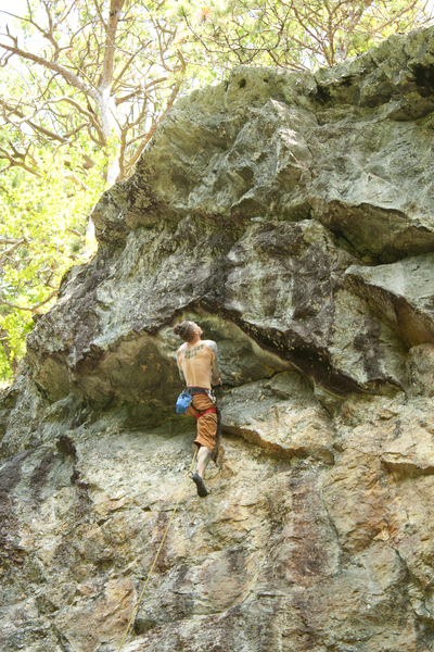 Big undercling but nothing great above. Much steeper than it looks here. photo by torie kidd