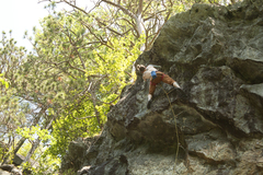 Rock Climbing Photo: Getting to the chains here. This last bit would fe...