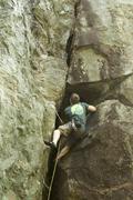 Rock Climbing Photo: Alec on smoke stack, a new wave classic!