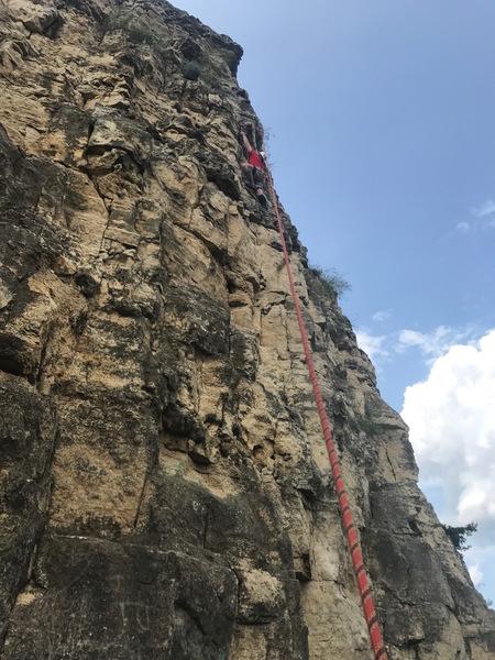 Rock Climbing Photo: E dub at the chains on The Saga