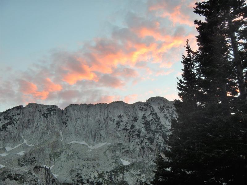 Thunder Mt. North at sunset