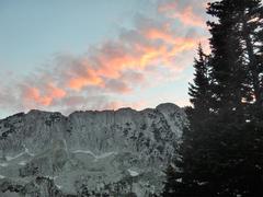 Rock Climbing Photo: Thunder Mt. North at sunset