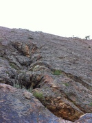 Rock Climbing Photo: Look for this when walking up the scramble the rou...
