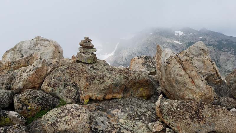 Rock Climbing Photo: Summit cairn I built--register is inside it