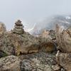 Summit cairn I built--register is inside it