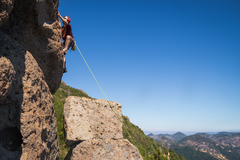 Rock Climbing Photo: friend leading new tradition