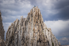 Rock Climbing Photo: Climber at top of north summit