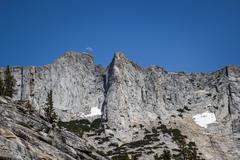 Rock Climbing Photo: moon over matthes crest