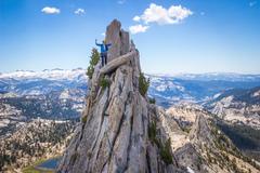 Rock Climbing Photo: Chloe following matthes crest