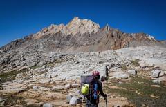 Rock Climbing Photo: Looking at Mt Humprheys after summiting