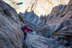 Rock Climbing Photo: Pretty exposed class 4 climbing