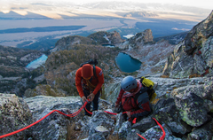 Rock Climbing Photo: Rappelling off of Disappointment Peak