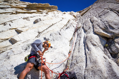 Rock Climbing Photo: Mark belaying pitch 2