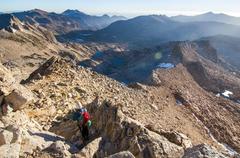 Rock Climbing Photo: Descent down West Ridge